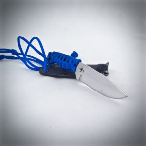 Traveller neck knife blue paracord