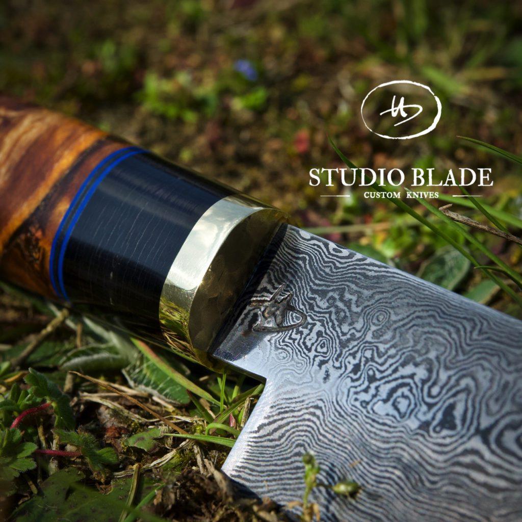 Studio Blade Damascus chef knife