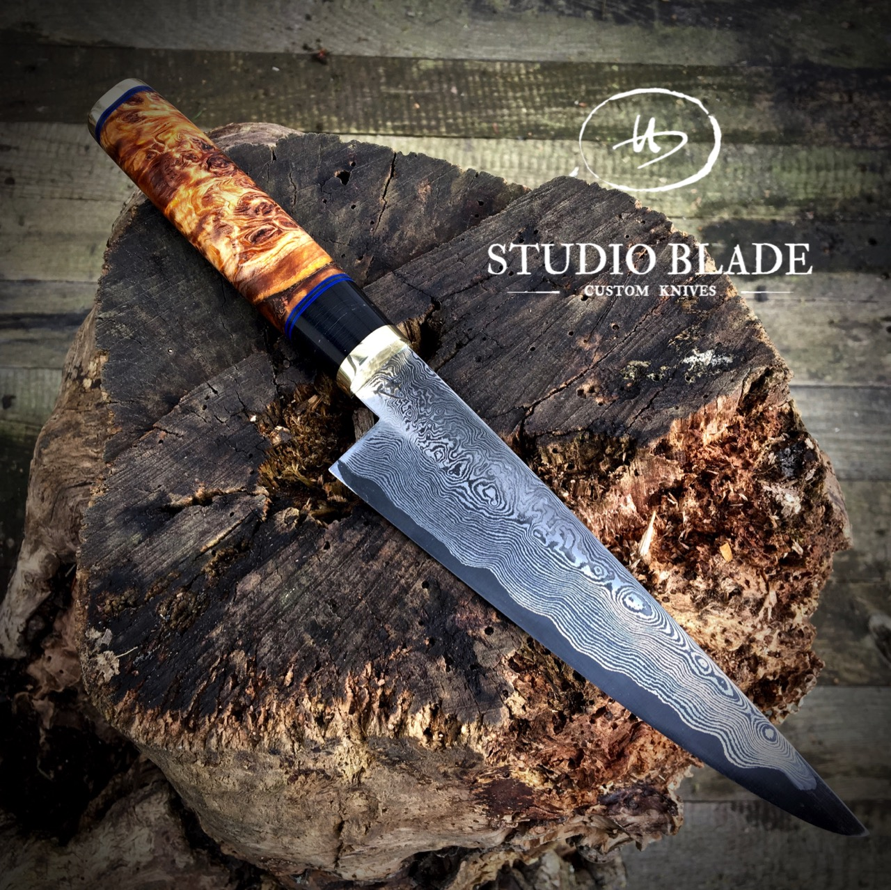 Studio Blade Damascus chef knife