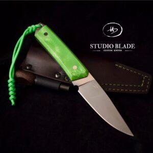 Studio Blade carbon steel bushcraft knife green juma