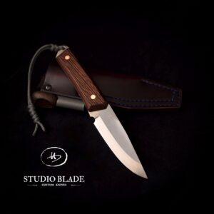 Studio Blade carbon steel bushcraft knife with a scandi grind