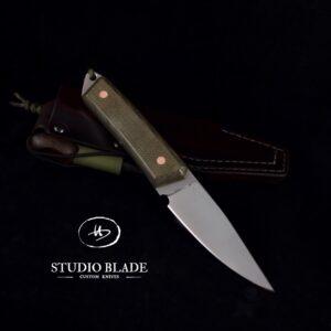 Studio Blade Trapper carbon steel bushcraft knife